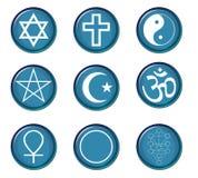 Símbolos religiosos Imagem de Stock Royalty Free