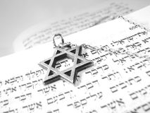 Símbolos religiosos judaicos macro   Imagem de Stock Royalty Free