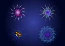 Símbolos sagrados del color de la geometría del vector Imagenes de archivo