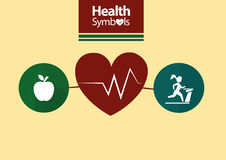 Símbolos saudáveis Imagens de Stock