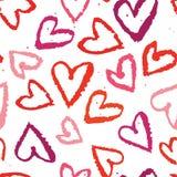 Símbolos sem emenda abstratos do coração do fundo Imagens de Stock Royalty Free