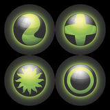 Símbolos Spheric do vetor Imagens de Stock