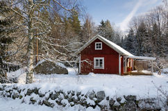 Símbolos suecos de la configuración del invierno imagen de archivo libre de regalías