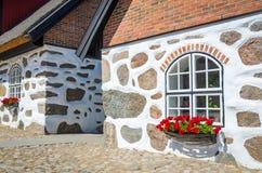 Símbolos suecos velhos da arquitetura Fotografia de Stock Royalty Free