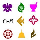 Símbolos tailandeses Imagem de Stock