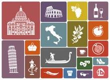 Símbolos tradicionais de Itália ilustração do vetor