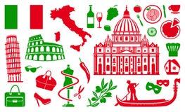 Símbolos tradicionais de Italia ilustração do vetor