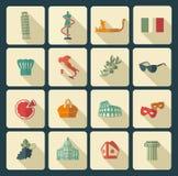 Símbolos tradicionais de Italia Imagem de Stock