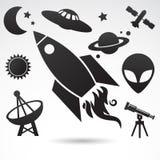 Símbolos tradicionais do cosmos e do universo ilustração do vetor