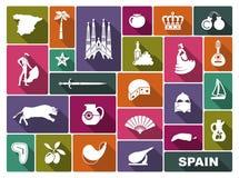 Símbolos tradicionales de España libre illustration