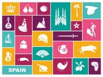 Símbolos tradicionales de España Iconos planos del vector libre illustration