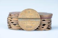 Símbolos velhos do telefone fora do uso em Itália Foto de Stock Royalty Free