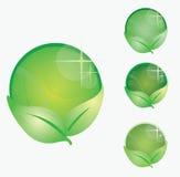 Símbolos verdes Imagens de Stock Royalty Free