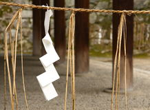 Símbolos xintoísmos em Japão Imagens de Stock