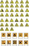 Símbolos y alertas del peligro Fotografía de archivo libre de regalías