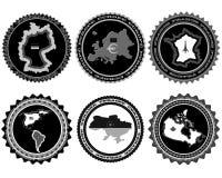 Símbolos y mapas Imagen de archivo libre de regalías