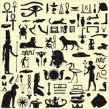 Símbolos y muestras egipcios Fotografía de archivo libre de regalías