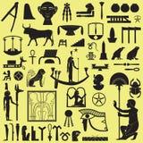 Símbolos y muestras egipcios 3 stock de ilustración