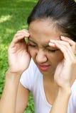Síndrome del dolor de cabeza Fotografía de archivo