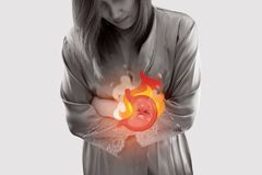 Síntomas ácidos de la enfermedad del reflujo ilustración del vector