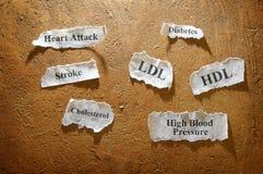 Síntomas médicos Imagen de archivo libre de regalías