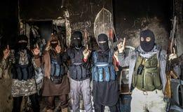 Síria: Al-Qaeda em Aleppo Fotografia de Stock