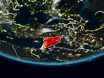 Síria durante a noite ilustração royalty free
