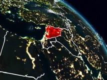 Síria na noite ilustração stock