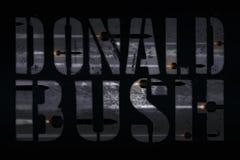 SÍRIA, o 14 de abril de 2018 - ataque de George W Bush das repetições do presidente Trunfo em choque e no incrédulo de Médio Orie Imagens de Stock Royalty Free
