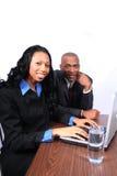 Sócios comerciais do americano africano foto de stock royalty free
