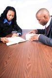Sócios comerciais do americano africano Fotografia de Stock Royalty Free