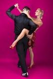 Sócios da dança em uma pose Fotografia de Stock Royalty Free