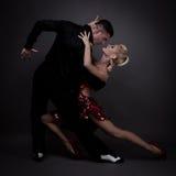 Sócios da dança em uma pose Imagem de Stock Royalty Free
