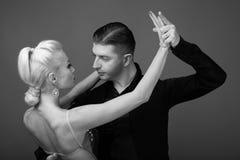 Sócios da dança em uma pose Imagem de Stock