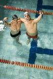 Sócios da natação imagens de stock royalty free