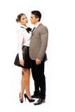 Sócios românticos no vestuário da forma muito perto Fotos de Stock