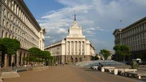 Sófia, Bulgária - 24 de abril de 2018: O centro de cidade de Sófia, a capital de Bulgária Construções da presidência, o Conselho  filme