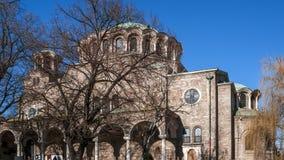 SÓFIA, BULGÁRIA - 20 DE DEZEMBRO DE 2016: St Nedelya da igreja da catedral em Sófia Foto de Stock