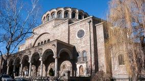 SÓFIA, BULGÁRIA - 20 DE DEZEMBRO DE 2016: St Nedelya da igreja da catedral em Sófia Fotos de Stock