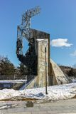 SÓFIA, BULGÁRIA - 5 DE FEVEREIRO DE 2017: Ideia do inverno de 1300 anos de monumento de Bulgária em Sófia Imagens de Stock Royalty Free