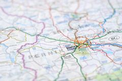 Sófia no mapa Foto de Stock Royalty Free