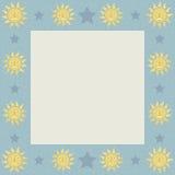Sóis com quadro quadrado das estrelas Fotografia de Stock