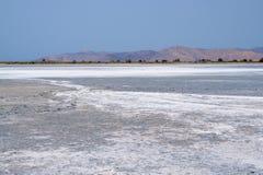 Sól na dnie Salt Lake Alykes Fotografia Royalty Free
