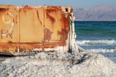 Sól w nieżywym morzu Zdjęcia Royalty Free
