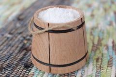 Sól w wiadrze zdjęcie royalty free