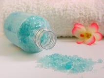 sól wannie ręcznik obrazy stock