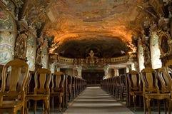 Sótão de coro de Aula Leopoldina na universidade de Wroclaw poland fotografia de stock