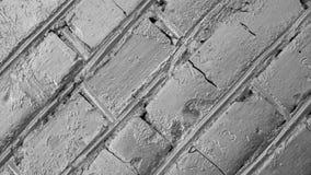 Sótão do close-up de prata 4k da rotação do fundo dos tijolos Close up da alvenaria filme