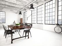 Sótão industrial moderno rendição 3d Foto de Stock