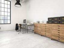 Sótão industrial moderno rendição 3d Fotos de Stock Royalty Free